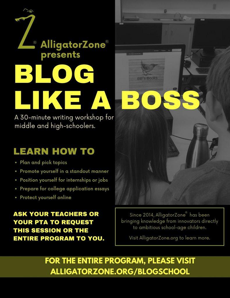 Blog School by AlligatorZone - banner